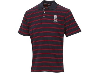 England Cricket Supporters Striped Polo Shirt