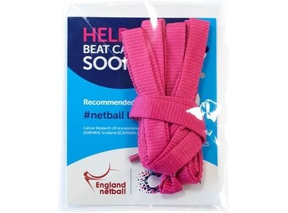 England Netball Pink Netball Laces - raising money for Cancer Research UK