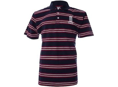 England Cricket Classic Striped Jersey Polo Shirt