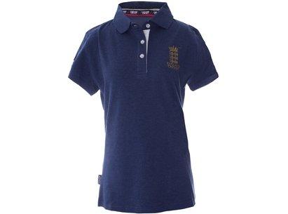 Classic Pique Blue Womens Polo Shirt