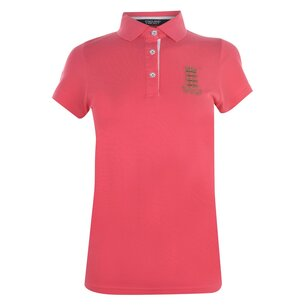 England Cricket Classic Pique Bright Coral Womens Polo Shirt