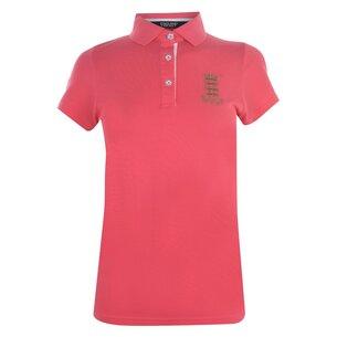 Classic Pique Bright Coral Womens Polo Shirt