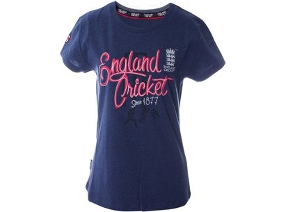 England Cricket Cricket Classic Crew Neck T Shirt Womens