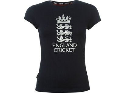 England Cricket Classic Large Logo Womens T-Shirt
