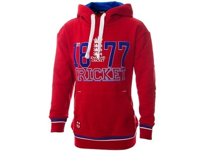 England Cricket Classic 1877 Cricket Red Junior Hoody