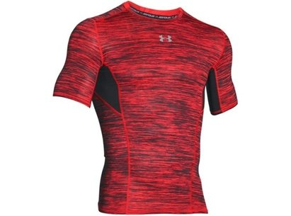 Under Armour HeatGear Mens CoolSwitch Compression Short Sleeve Top - Twist