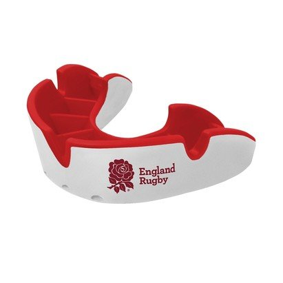 OPRO GEN3 Junior Silver Protection Gum Shield - England Rugby RFU