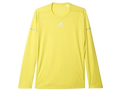adidas AW16 Mens Sequentials Climalite Long Sleeve Running T-Shirt