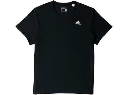 adidas Mens Essentials Mid 3 Stripe T-Shirt