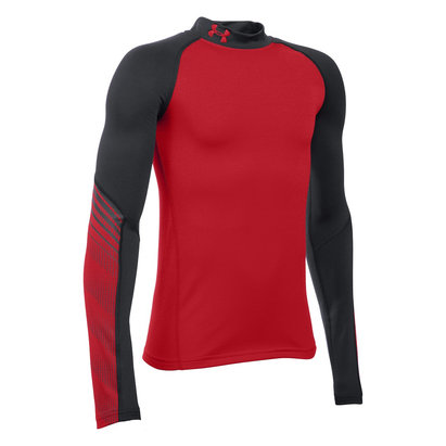 Under Armour ColdGear Junior Armour Up Mock Long Sleeve Baselayer Top