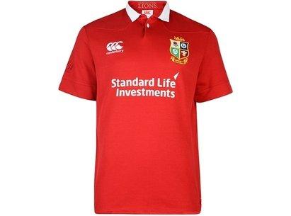 Canterbury British and Irish Lions Mens Matchday CLASSIC Short Sleeve Rugby Shirt