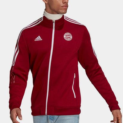 adidas Bayern Munich Anthem Jacket 2021 2022 Mens