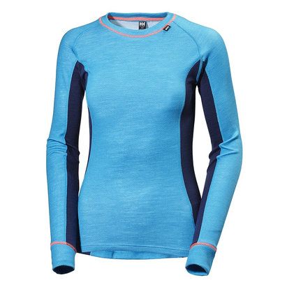 Helly Hansen WARM Womens Ice Crew Long Sleeved Top - Panelled