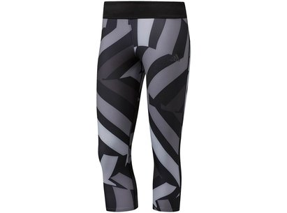 adidas SS17 Womens Response 3/4 Running Tights Black Grey