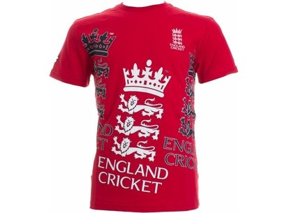 England Cricket Classic Large Stitch Logo T-Shirt