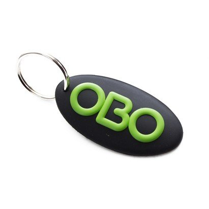 OBO Oval Logo Key Ring
