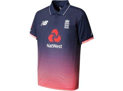 New Balance England Cricket Junior ODI Replica Shirt