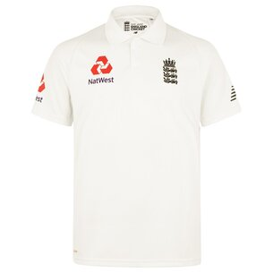 New Balance England Cricket Test Shirt 2019 Mens