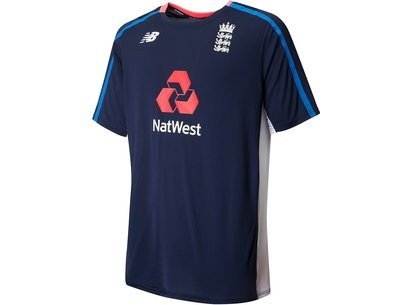 New Balance England Cricket Short Sleeve Training T-Shirt