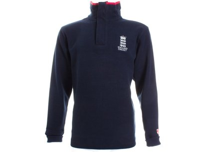 England Cricket Classic Half Zip French Rib Sweatshirt