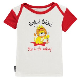 England Cricket Cricket Crew Neck T Shirt Infants
