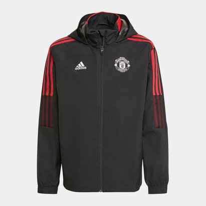 adidas Manchester United All Weather Jacket 2021 2022 Junior