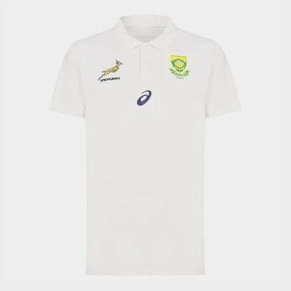 Asics South Africa Springboks Media Polo Shirt Mens