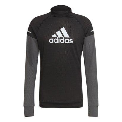 adidas Block Long Sleeve T Shirt Mens