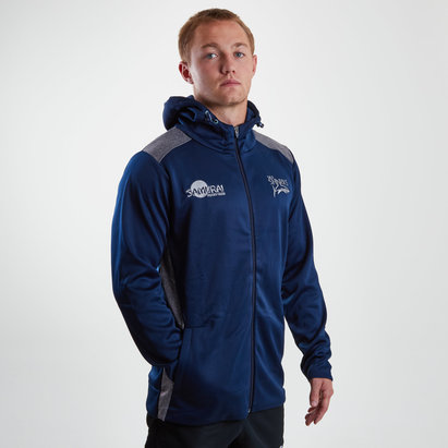 Sale Sharks 2018/19 Players Hooded Rugby Sweat