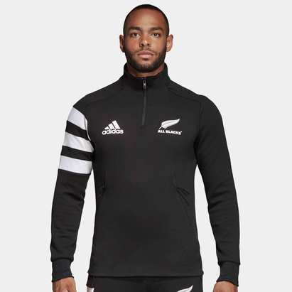 adidas New Zealand All Blacks 2019/20 1/4 Zip Fleece