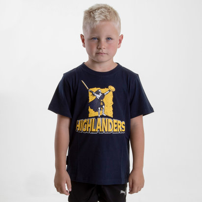 Brandco Highlanders 2019 Kids Graphic Super Rugby T-Shirt