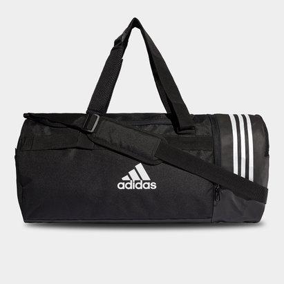 adidas Convertible 3 Stripe Medium Duffel Bag