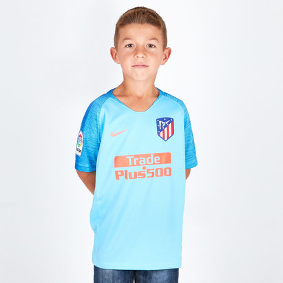 Nike Atletico Madrid 18/19 Away Kids S/S Football Shirt