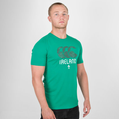 Canterbury Ireland IRFU Graphic Poly Rugby T-Shirt