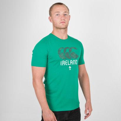 Canterbury Ireland IRFU Graphic Poly Rugby T-Shirt