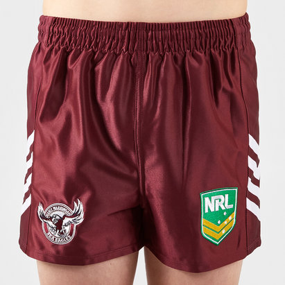 ISC Manly Sea Eagles NRL Kids Alternate Supporters Rugby Shorts