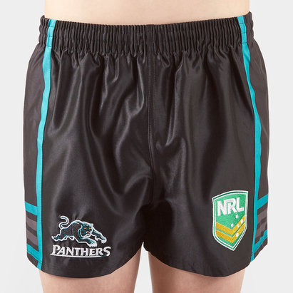 ISC Penrith Panthers NRL Kids Supporters Rugby Shorts
