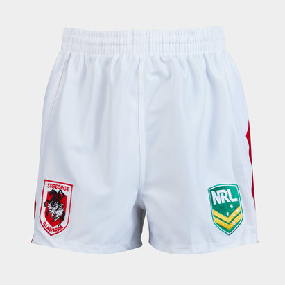 ISC St George Illawarra Dragons NRL Kids Supporters Rugby Shorts