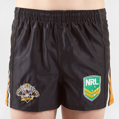 ISC Wests Tigers NRL Kids Supporters Rugby Shorts