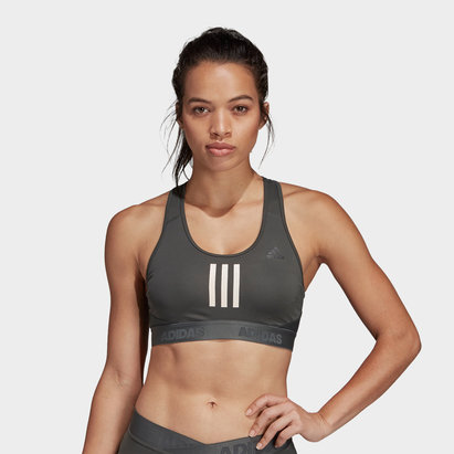 adidas Alphaskin Ladies 3 Stripes Sports Bra