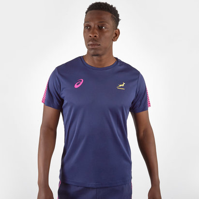 Asics South Africa Springboks 2019/20 Players Rugby Training T-Shirt