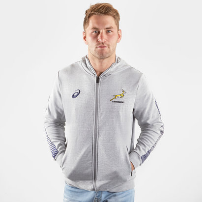 Asics South Africa Springboks 2019/20 Players Travel Hooded Rugby Sweat