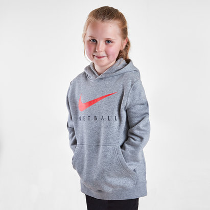 Nike England 2019 Kids Netball Graphic Hooded Top