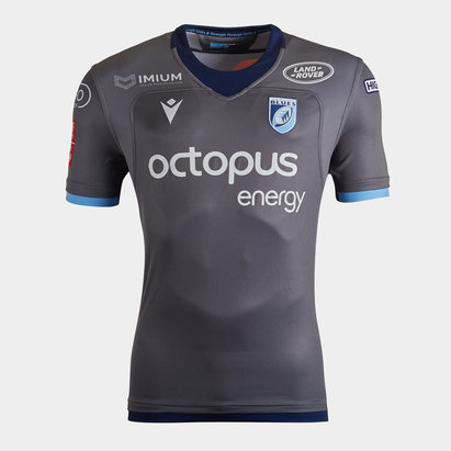 Macron Cardiff Blues 2019/20 Alternate S/S Replica Rugby Shirt