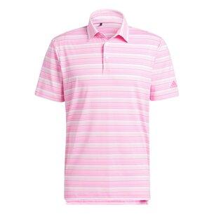 adidas Heather Snap Polo Shirt Mens