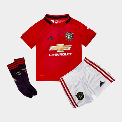 adidas Manchester United 19/20 Home Mini Kids Replica Football Kit