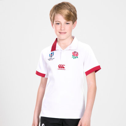 Canterbury England RWC 2019 Kids Home Classic S/S Rugby Shirt