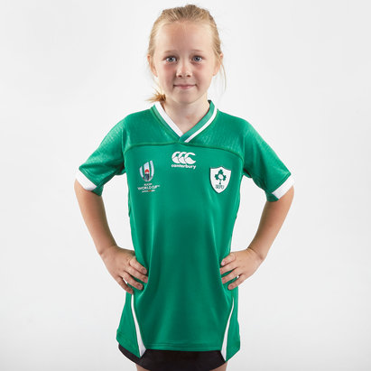 Canterbury Ireland IRFU RWC 2019 Kids Home Pro S/S Rugby Shirt