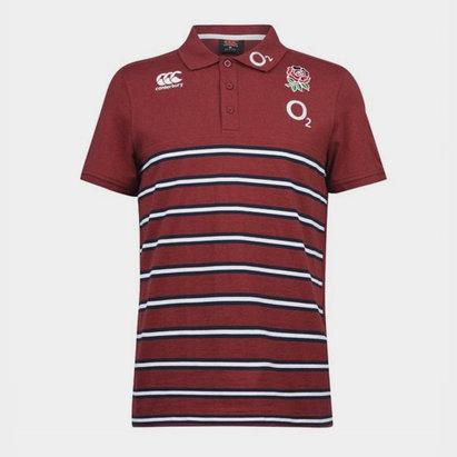 England 2019/20 Cotton Stripe Rugby Polo Shirt