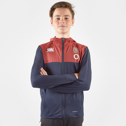 Canterbury England 2019/20 Kids Full Zip Hooded Rugby Sweat